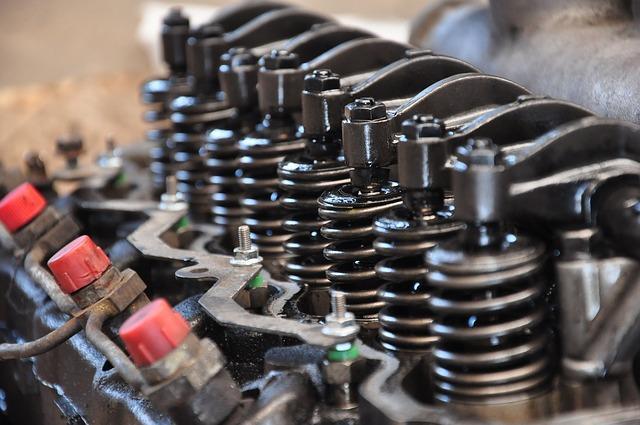 Motor com 8 cilindros em linha